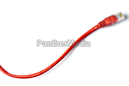 red network plug on white