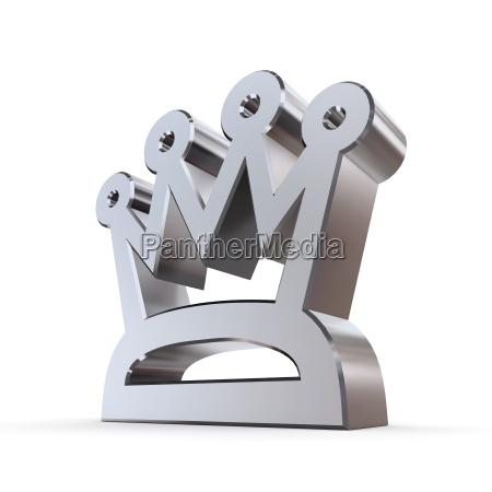 shiny peaked crown