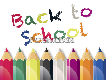 back to school text and color
