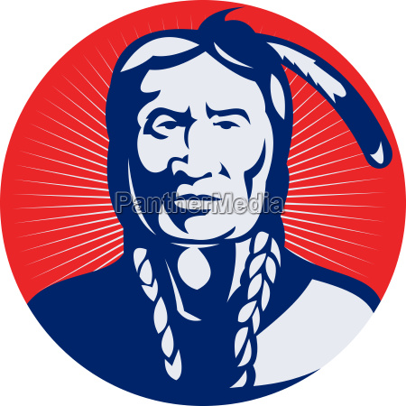 native american indian chief facing front