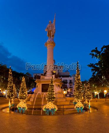 plaza colon in old san juan