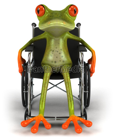 frog and wheelchair