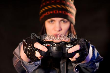 woman gamer