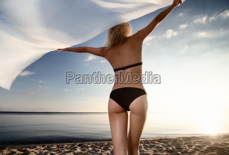 young gorgeous caucasian blonde model posing