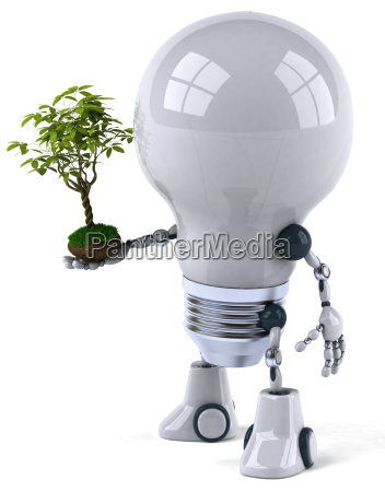 robot lightbulb