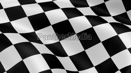 checkered flag in the wind part