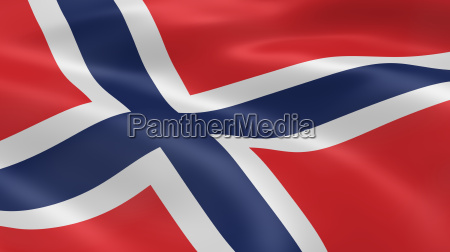 norwegian flag in the wind part