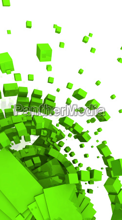 3d background green cyberspace