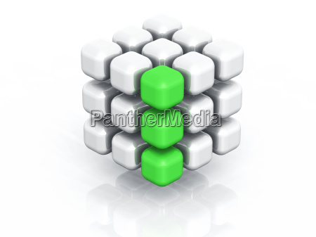 cuboid green row