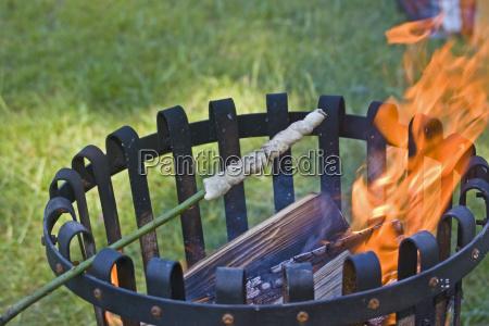 pane fuoco incendio griglia barbecue pasta