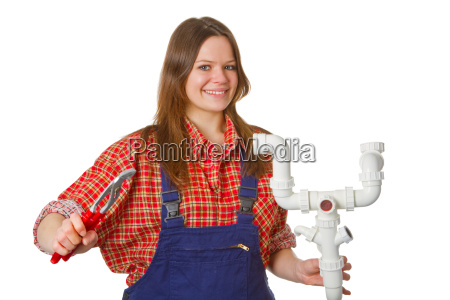 craftswoman with syphon