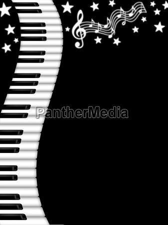 wavy piano keyboard black and white