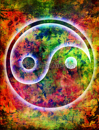 yin and yang background grunge