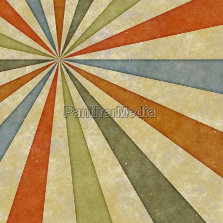 sixties style grungy sunburst swirl