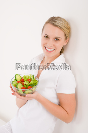 healthy lifestyle smiling woman with