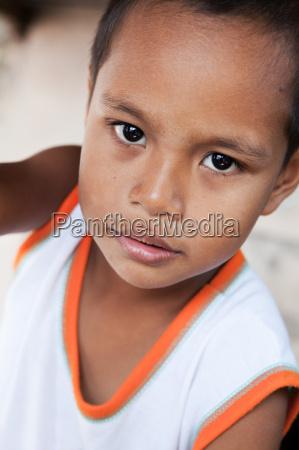 young asian boy portrait in manila