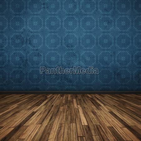 floor dark blue