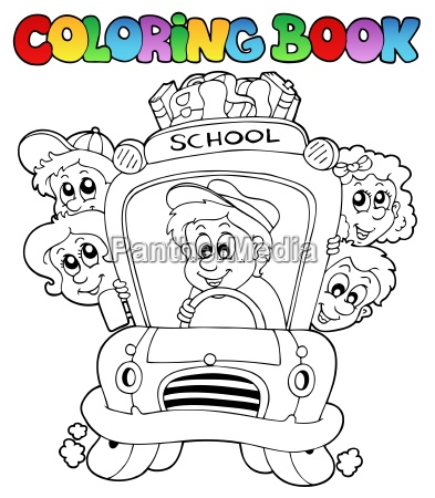 coloring book with school images 3