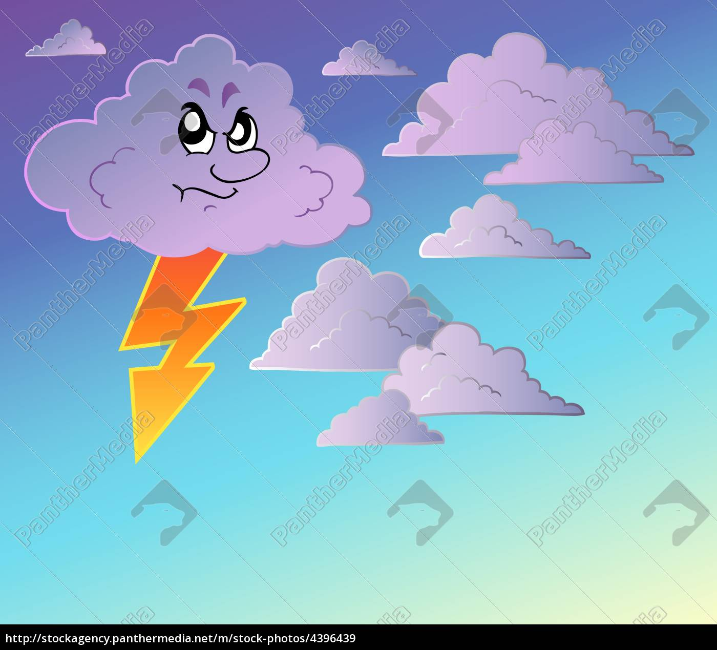 Stormy Sky With Cartoon Clouds Stock Photo 4396439 Panthermedia Stock Agency Cartoon cloud animation, clouds cartoon, blue, white, hand png. stock photo 4396439 stormy sky with cartoon clouds