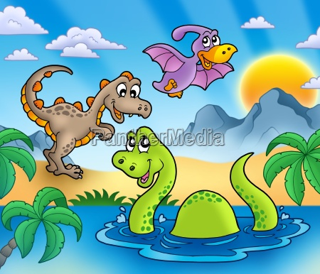 landscape with dinosaurs 1