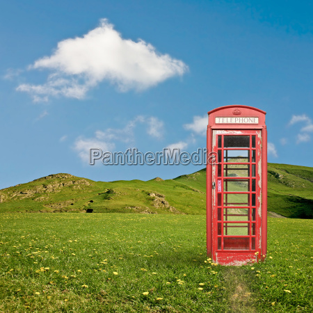 a british telephone booth in the