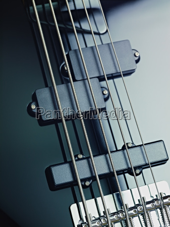 details of electric bass pickups and