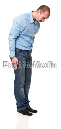 man bow position