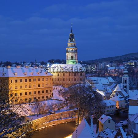 cesky krumlov in winter czech republic