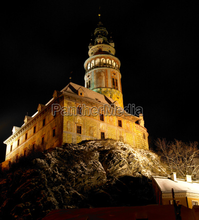 cesky krumlov in winter czech republic