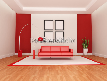 red and white lounge