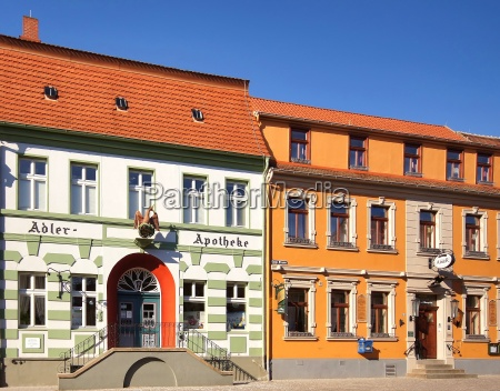 historic old town with half timbered