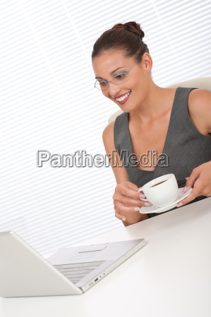 corporate manager working with laptop