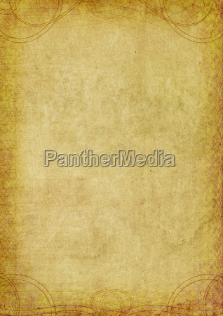 parchment ornament line raster template