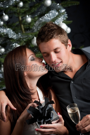 young sexy couple in front of