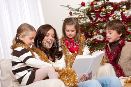 happy family mother with three children