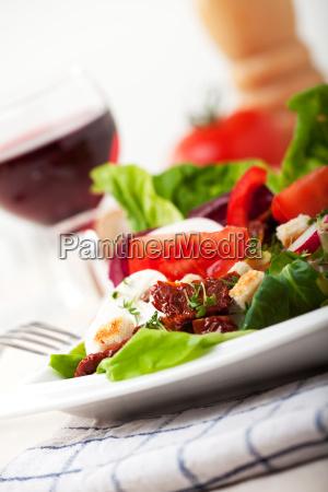 detail of fresh mixed salad
