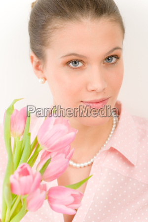 fashion young romantic woman with