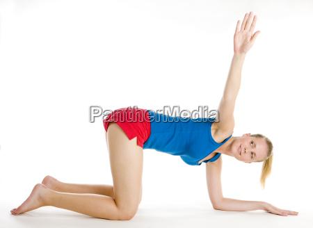 exercising woman