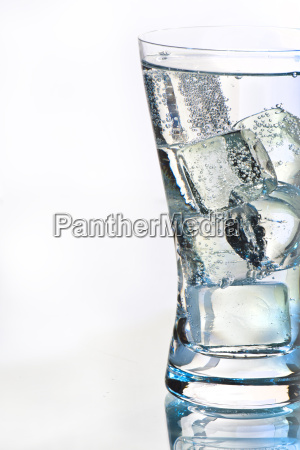 water glass with sparkling water
