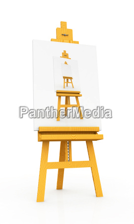 wooden easel with painted wooden easel