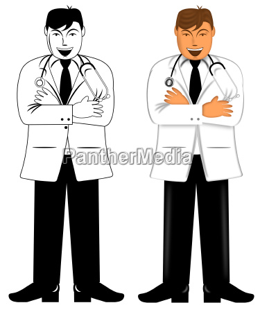 doctor standing with folded arms and