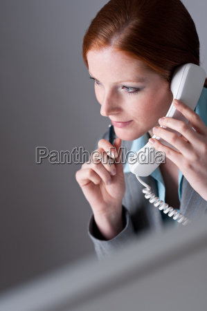 successful executive businesswoman on the phone