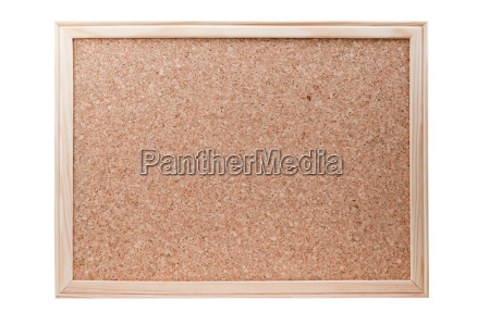 blank cork board with a wooden