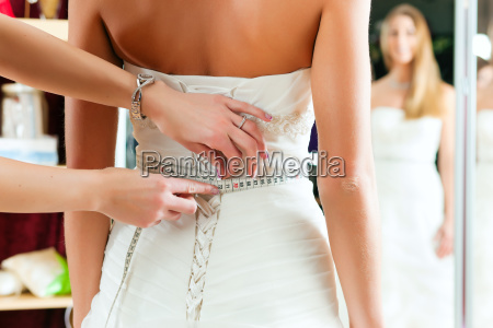 bride with a bridal outfitters