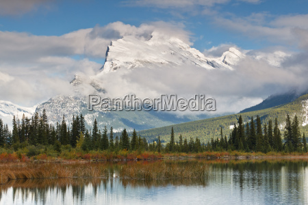 mount rundle and vermillion lake canada