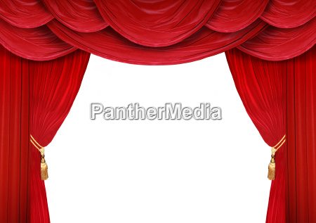 curtain of a theater