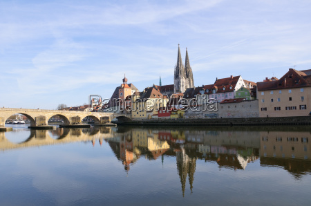 old town of regensburg germany
