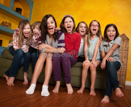group of girls screaming