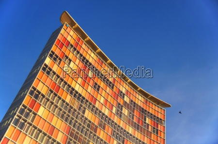 office building with sun protection