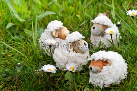 spring or easter decoration sheep